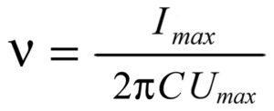 Колебательный контур радиоприемника настроен на частоту v = 10^7 Гц. Ёмкость плоского воздушного конденсатора контура C = 0,2 мкФ, расстояние между его пластинами d = 1 мм. Какова максимальная напряженность электрического поля конденсатора E maxв ходе колебаний, если максимальный ток в катушке индуктивности равен I max= 1 А