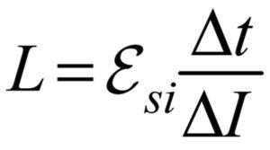 При равномерном увеличении силы тока в катушке на 8 А за 0,04 с в ней возникает ЭДС самоиндукции, равная 50 В. Чему равна индуктивность катушки