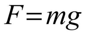 сила тяжести формула