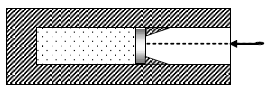В вакууме закреплён горизонтальный цилиндр. В цилиндре находится 0,1 моль гелия, запертого поршнем. Поршень массой 90 г удерживается упорами и может скользить влево вдоль стенок цилиндра без трения. В поршень попадает пуля массой 10 г, летящая горизонтально со скоростью 400 м/с, и застревает в нём. Как изменится температура гелия в момент остановки поршня в крайнем левом положении? Считать, что за время движения поршня газ не успевает обменяться энергией с сосудом и поршнем